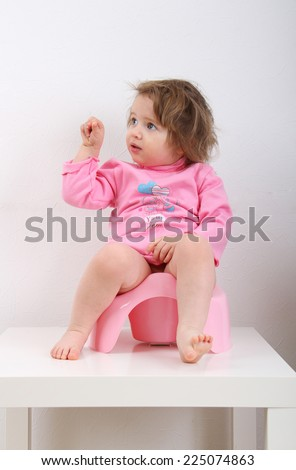 Potty Training - stock photo