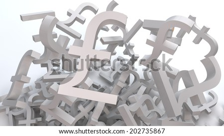 Pound Letters - stock photo