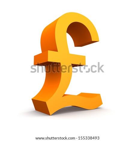 Pound symbol on a white background - stock photo