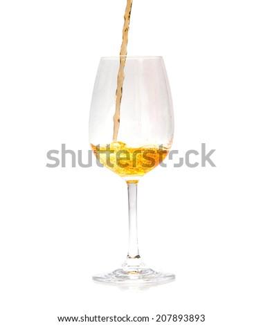 Pour whisky into glass - stock photo