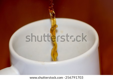 pouring coffee - stock photo