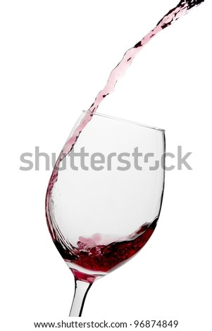 Pouring Glass of Wine - stock photo