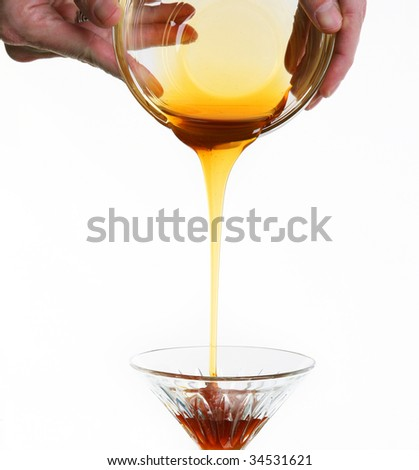 Pouring Honey - stock photo