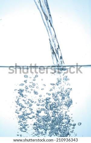 pouring water  fresh watersplash - stock photo