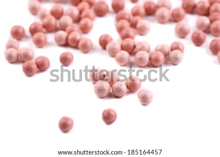 Powder balls isolated on white - stock photo