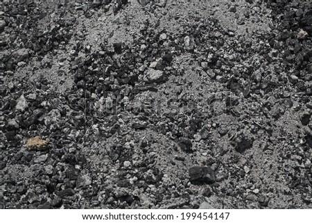 Powder charcoal pile - stock photo
