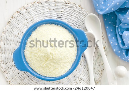 Powdered milk - stock photo
