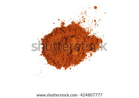 Powdered red pepper isolated on white background - stock photo