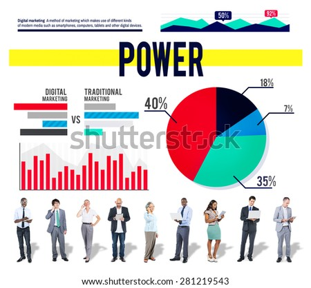Power Ability Potential Statistcs Marketing Concept - stock photo