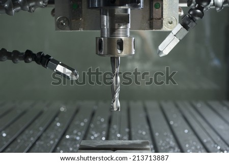 power automated drilling machine detail - stock photo
