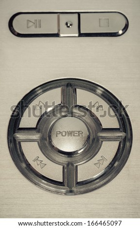power button vintage retro style background. - stock photo