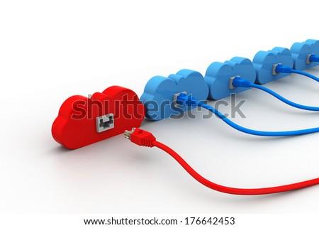 power cord and plug - stock photo
