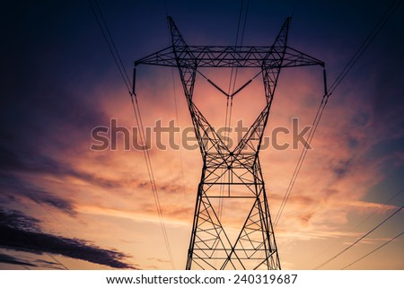 Power electricity supply infrastructure - stock photo