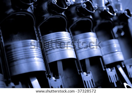 Power engine cylinders. - stock photo