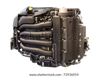 power engine for yacht and ships isolated - stock photo
