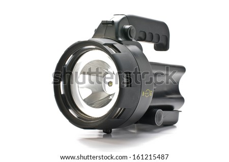 Power flashlight - stock photo