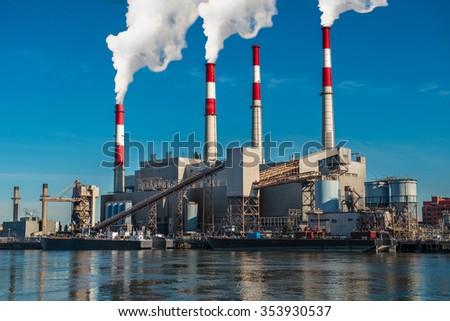 Power generation factory Generating Station - stock photo