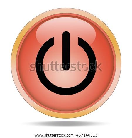 power  icon. Internet button,3d illustration - stock photo