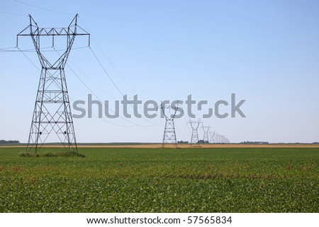 power lines - stock photo