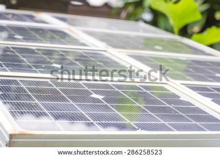 Power plant using renewable solar energy.Green Energy. - stock photo