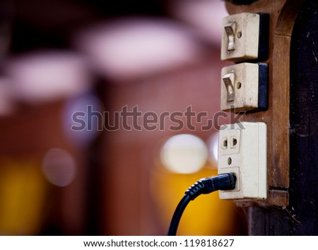 power plug - stock photo