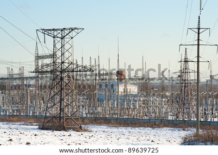 Power station for electrical Industry - stock photo