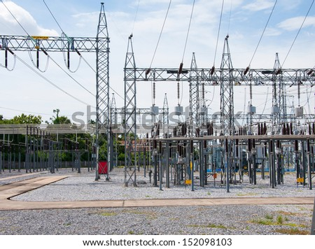 Power station for making Electricity. - stock photo