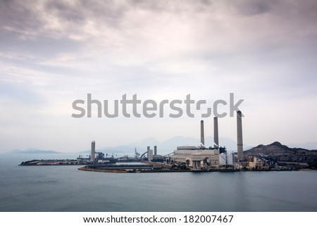 Power station in Lamma Island Hong Kong, China  - stock photo