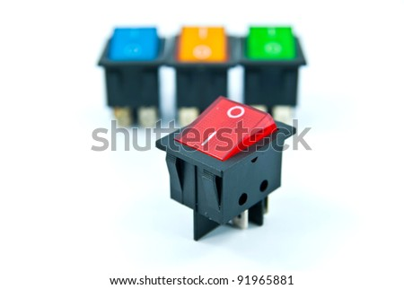 Power switches - stock photo