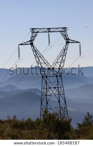 Power tower  in Alpes de Haute Provence, France  - stock photo