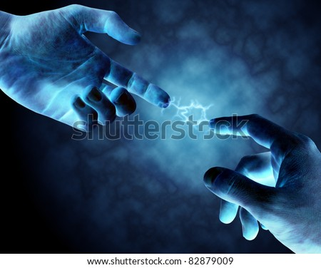Powerful Connection - stock photo