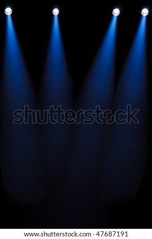 powerful light projectors - stock photo