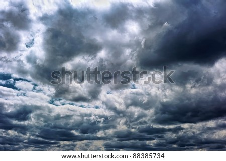 Powerful storm clouds - stock photo