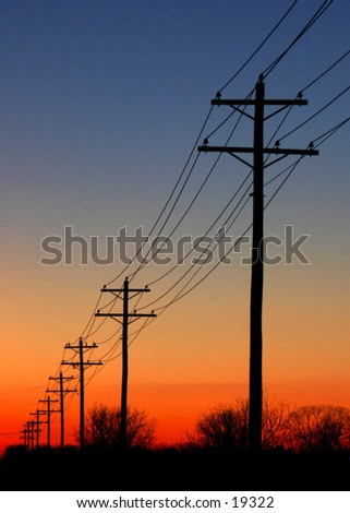 Powerful Sunset - stock photo