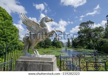 Powerscourt stately house and gardens, Ireland - stock photo
