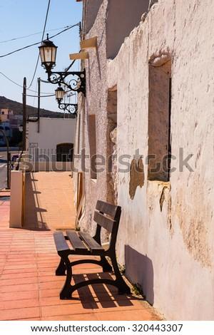 Pozo de los frailes is a little town in natural park for Cabo de Gata Almeria Andalucia Spain - stock photo