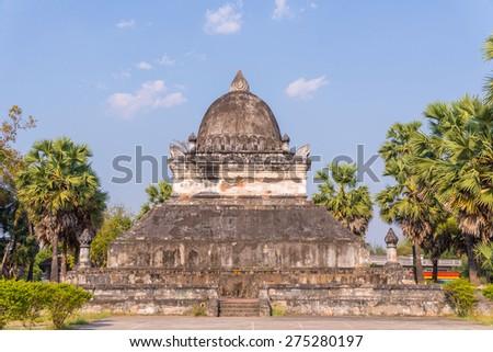 Pra tat mark mo at Wat Wisunarat (Wat Visoun) Luang Prabang, Laos. - stock photo