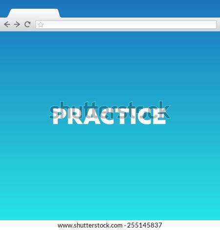 PRACTICE - stock photo