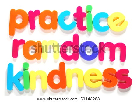 practice random kindness - stock photo