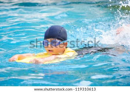 Practice Swimming - stock photo