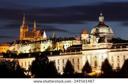 Prague at night, Czech Republic.  - stock photo