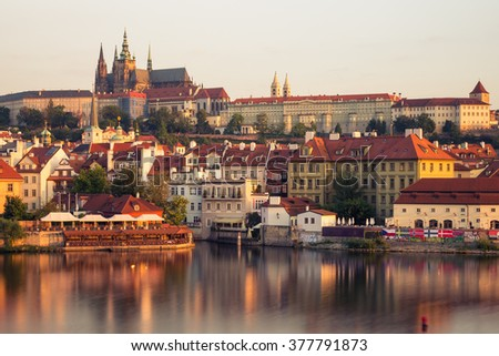 Prague castle in the morning, Czech Republic, Europe - stock photo