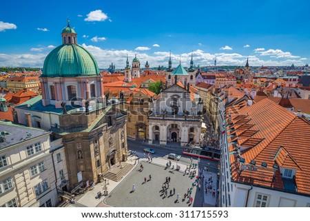 Prague city skyline, Czech Republic - stock photo