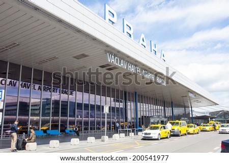 PRAGUE, CZECH REPUBLIC - JUNE 5, 2014: Vaclav Havel Airport in Prague on June 5, 2014, Czech Republic - stock photo