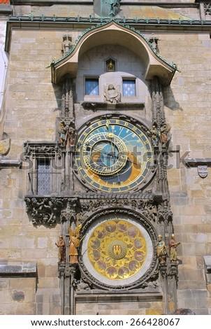 Prague. Hradcany District. Astronomical Clock. - stock photo