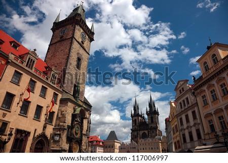 Prague, Old Town Square - stock photo