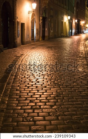 Prague Old Town street - stock photo