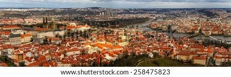 Prague panorama/ Old town / Prague - stock photo