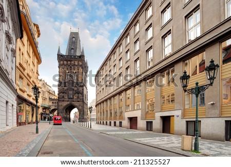 Prague - Powder tower - stock photo