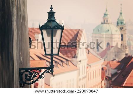 Prague street - stock photo